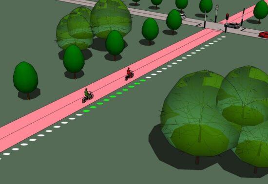 Evergreen: groene golf voor fietsers