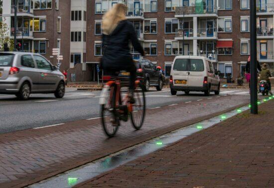 Fietsers in Leiden zijn blij met Volg Groen
