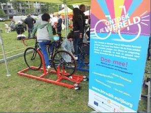 Ontdenk je Wereld IJburg - promotie fiets gebruik