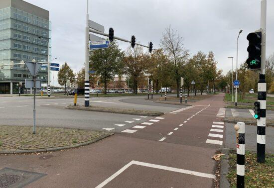 Test met voorrang voor fietsers bij verkeerslichten in Breda