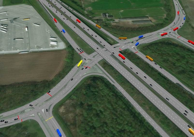 VISSIM simulatiestudie Talking Traffic use case prioriteren