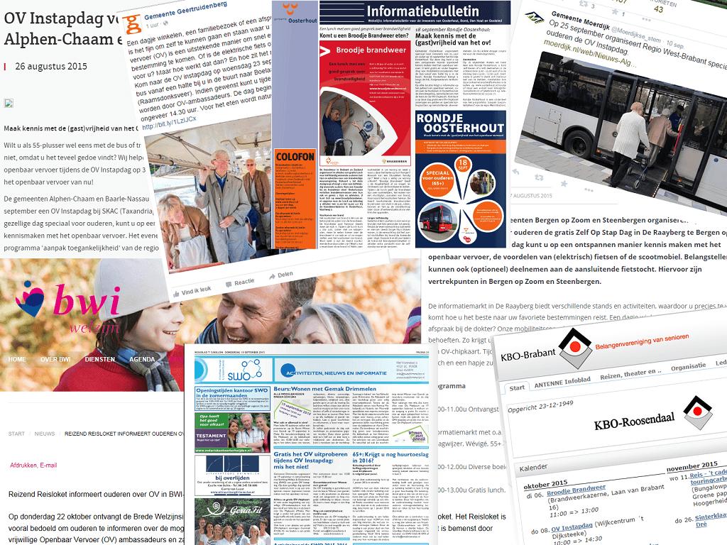 Veel media aandacht projecten ouderen zelfstandig mobiel in West-Brabant