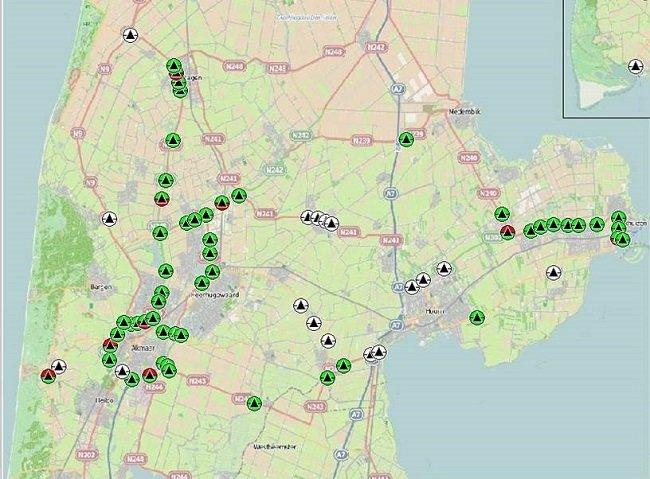 Verkeerslichten dashboard provincie Noord-Holland